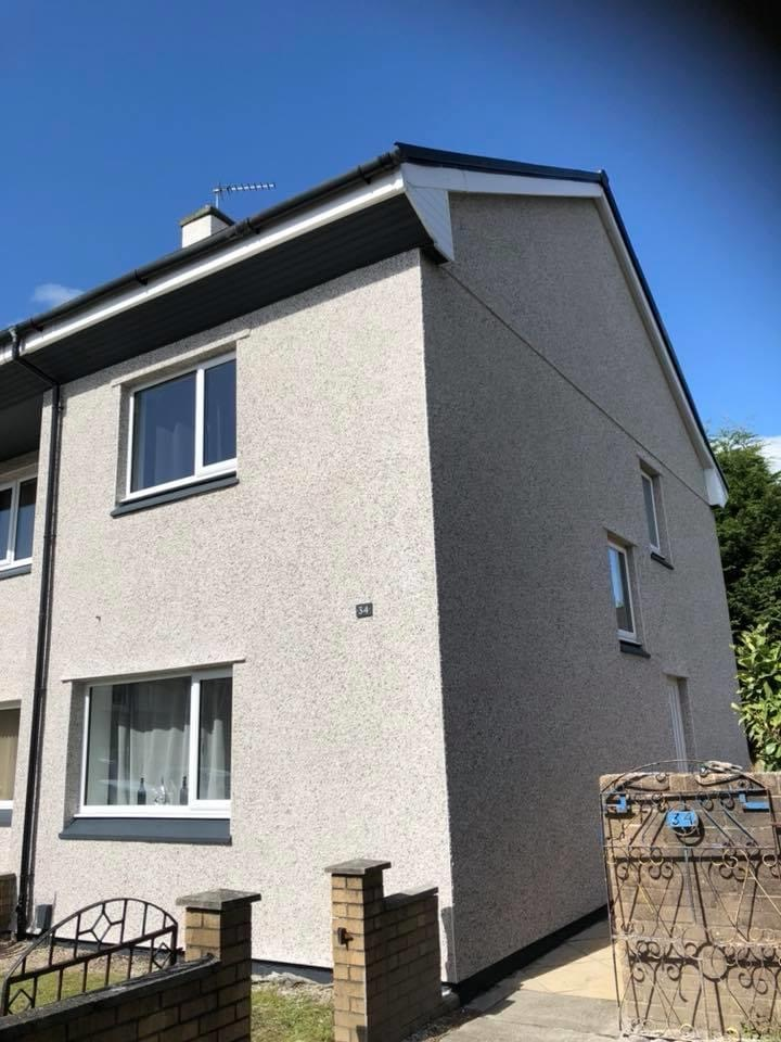 Roughcast Render in Glasgow, Scotland